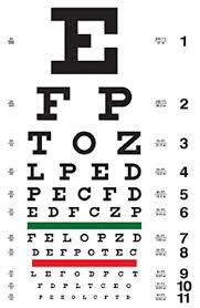 Joel Gott Eye Chart Red