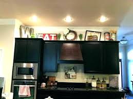 decorating above kitchen cabinets. Top Of Kitchen Cabinets Decor Cabinet Ideas Decorating Above  Simple