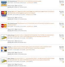 figure 4 credit card listings on a darknet market