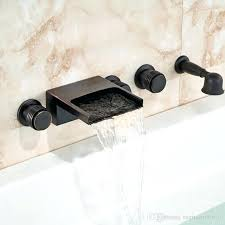 oil rubbed bronze bathtub faucet wall mounted oil rubbed bronze bathtub faucet led waterfall spout mixer
