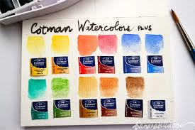 Winsor And Newton Cotman Color Chart Too Nice To Use Winsor Newton Cotman Water Colours