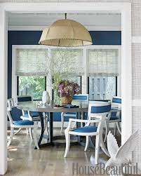 Blue dining room furniture Sapphire Blue House Beautiful 18 Best Dining Room Paint Colors Modern Color Schemes For Dining Rooms
