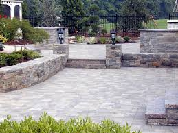 ... Brick Gorgeous Home Exterior And Backyard Decoration With Backyard  Pavers : Outstanding Garden And Home Exterior Decoration ...