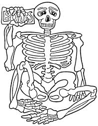 Small Picture Alluring Skeleton Coloring Sheet Coloring Pages Skeletonjpg