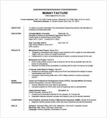 Resume Format For Mechanical Engineering Students Pdf Professional