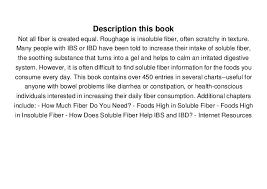 Pdf Ibs Ibd Fiber Charts Soluble Insoluble Fibre Data For