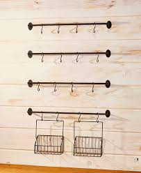 6 pc wall mounted coffee mug rack
