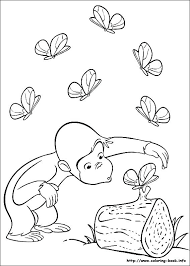 curious coloring pages on coloring index curious george free printable banner curious coloring