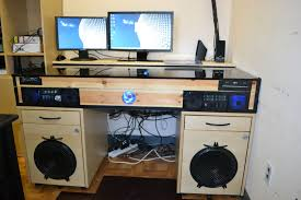 introduction desk with built in pc