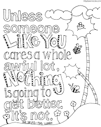 The Lorax Inspired Earth Day Coloring Page Dawn Nicole Designs