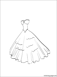 Coloring Pages Of Dresses Barbie Coloring Pages Fashion Barbie