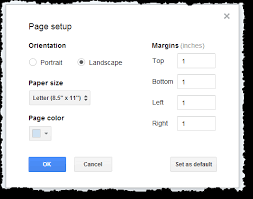 Google Doc Format Make A Single Page Landscape In Google Documents Web Applications