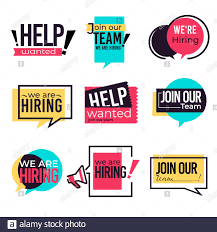 Join our team and hiring isolated icons, wanted and vacancy Stock Vector  Image & Art - Alamy