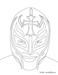 Wrestler Rey Misterio Coloring Page Party Birthday Celebration In