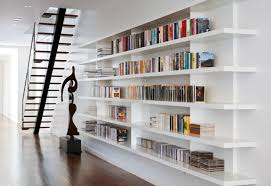 Modern home library design Stylish Home Staircase Libraries Trendir Modern Home Library Ideas For Bookworms And Butterflies