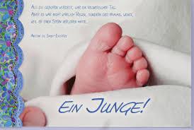 Karte Zur Geburt Ein Junge With Regard To Sprüche Zur Geburt