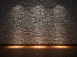 wonderful stone wall interior ideas nuanced in cool grey created to match with hardwood laminate flooring and enlightened by round ceiling lights