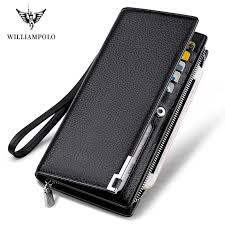 <b>WILLIAMPOLO</b> Original Brand <b>100</b>% Leather Wallet Men Famous ...