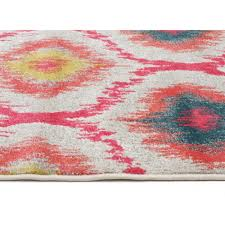 gypsy heirloom rug pink yellow grey side image