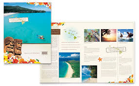 Travel Brochure Cover Design Hawaii Travel Vacation Brochure Template Design