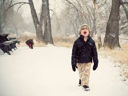 Image result for small boy in deep snow