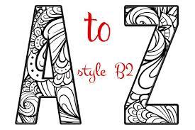 Designer Letters Ofthe Alphabet Coloring Letters Of The Alphabet B2 By Artistic Letters On
