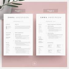 Clean Modern Resume Clean Modern Resume Template 4 Page Cv Template Cover Letter For