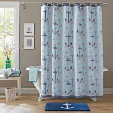 Curtain Walmart Shower Curtain Navy Fabric Shower Curtain