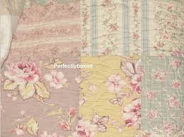Vintage Floral Patchwork Quilts Camille www.perfectlyboxed.com & Bedspread Patchwork King Vintage Floral Pink Blue + shams Camille Adamdwight.com