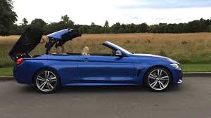 BMW 4 Series Convertible roof operation - YouTube