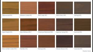 Deck stain color chart