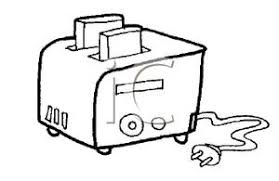 toaster clipart black and white. a coloring page of toast in toaster - clipart black and white t
