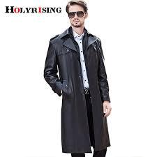 long black trench coat men trench coat men long black classic turn collar autumn winter pea