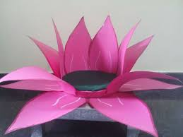 How To Make Big Lotus Flower From Paper Create A Lotus For Varalakshmi Vratam To Place Ammavaaru
