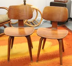 pair of thonet 1950 s bentwood chairs sold