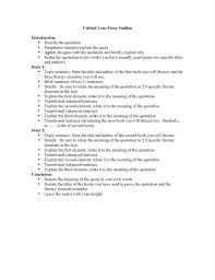 Outline For Critical Evaluation Essay