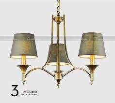vintage home lighting chandeliers indoor bedroom light fixtures grey green fabric lampshade copper iron chandelier e14