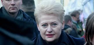 Президент Литвы в году партизаны загубили свыше тысяч  Даля Грибаускайте