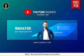 Channel Art Template Free Vlogger Youtube Channel Banner Psd Template Indiater