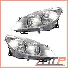 2x Headlamp Headlight H7h1 Front Leftright Opel Vauxhall Corsa D 4