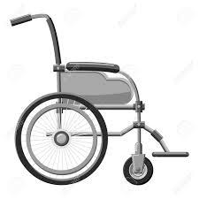 車椅子アイコンweb の車椅子ベクトル アイコンの灰色のモノクロ イラスト