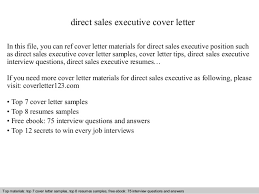 Direct Sales Resumes Direct Sales Executive Cover Letter