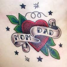 50 mom and dad tattoos with significant