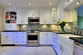 Raising Kitchen Cabinets Awesome Bright White Raised Panel And