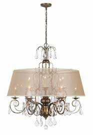 belle marie 12 light crystal chandelier w shade in antique gold wi194990