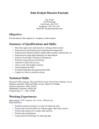 Data Analyst Resume Keywords Job And Resume Template