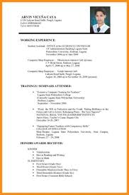 9 Sample Resume Format For College Students Azzurra Castle Grenada