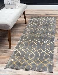 gray gold 2 x glam trellis runner rug area rugs 10 ft unique loom runner rug