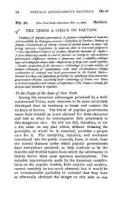 federalist no  black text on white in old fashioned type paul leicester ford s summary preceding federalist