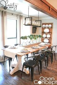 farmhouse table with leaves. Diy Dining Room Table Open Concept Farmhouse With Leaves